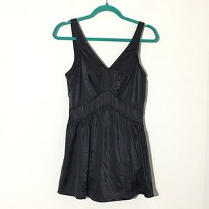 Maxine of Hollywood Swimdress Onepiece Black Sz 16